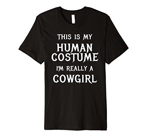 Ich bin wirklich ein Cowgirl Halloween-Kostüm Shirt