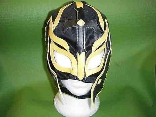 SCHWARZ - REY MYSTEIRO RINGER MASKE WWE KOSTÜM RAY OUTFIT STYLE WWF TNA ECW ROH NEU THE MEXIKANISCHE KLEIDUNG PARTY KINDER SELTEN (Spielzeug Wwe Tna)