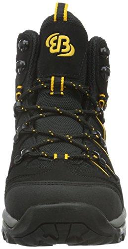 Brütting Mount Hunter High, Chaussures de Randonnée Hautes homme Noir (Schwarz/gelb)