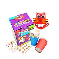 NUOBESTY Crafts Paper Cups Art Kit Kids Crafts Art Toys DIY Crafts Toys for Kids Children 12pcs Paper Cup and 12pcs Stickers