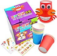 NUOBESTY Crafts Paper Cups Art Kit Kids Crafts Art Toys DIY Crafts Toys for Kids Children 12pcs Paper Cup and