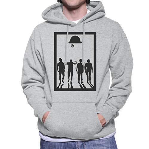 A Clockwork Orange Frame Movie Silhouette Men's Hooded Sweatshirt (Sport-programm Frames)