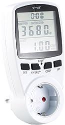 revolt Energiekostenmessgerät: Digitaler Energiekostenmesser mit XXL Jumbo Display, bis 3.680 Watt (Strommessgerät)