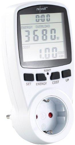 revolt Stromverbrauchsmesser: Digitaler Energiekostenmesser mit XXL Jumbo Display, bis 3.680 Watt (Stromverbrauchszähler) -