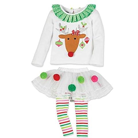 Amlaiworld Mädchen süß Weihnachten Baby Kleinkind Santa Elch Kuchen Kleid
