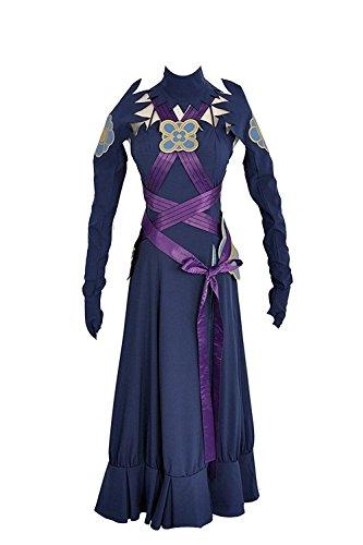 icksal Aqua Kleid Cosplay Kostüm Custom Made, Collegejacke, Violett ()