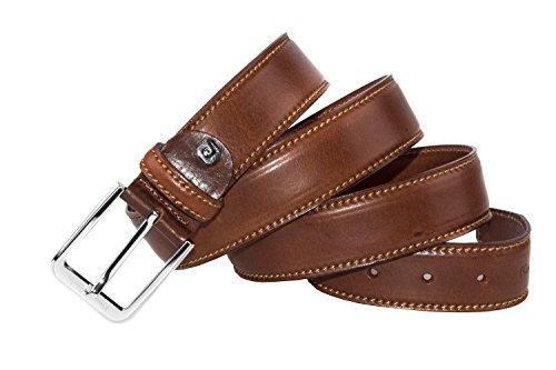 Cintura uomo PIERRE CARDIN marrone cinta classica in vera pelle 125 cm R5761