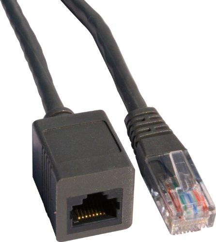 Rhinocables Rallonge de câble réseau Cat 6 RJ45 mâle vers RJ45 femelle Gris 10m