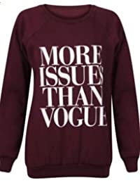 """(womens """"more issues than vogue"""" sweater (mia) Femmes """"more issues than vogue"""" pull"""