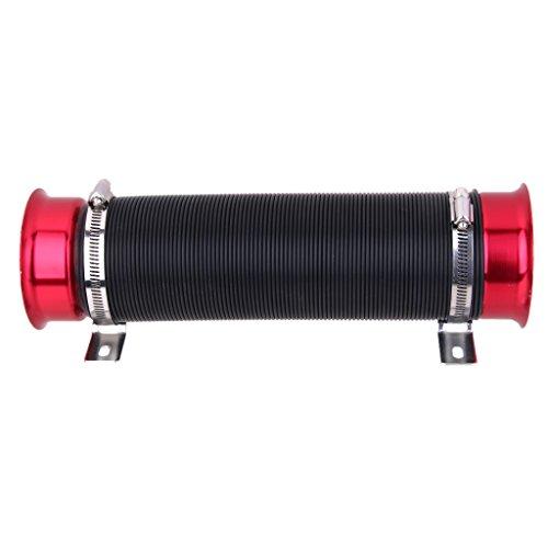 Regolabile Flessibile Breve Ram e Fredda Presa D'aria Del Tubo Del Condotto Turbo - 3 Colori - Nero+Rosso