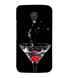 Ifasho Rose In Water Glass With Drop Of Water Back Case Cover For Moto G2