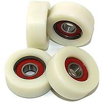 4piezas nailon rodillos de poliamida 40mm de diámetro 16mm de ancho 10mm rodamientos precisamente fabricado en la UE (40–16–10)