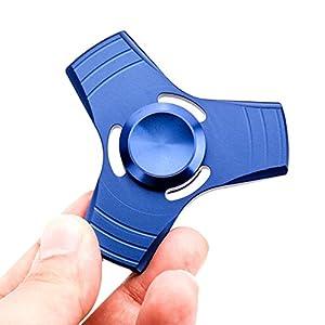 VANKER Tri Fidget Spinner de Dedo de Aluminio Dart EDC mano juguete para Aliviar el estrés, Ansiedad, TDAH Adultos y Niños -- Azul