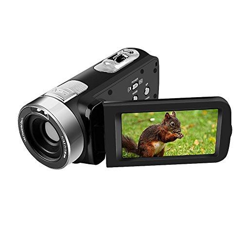 Videokamera Camcorder HD 1080p Digitalkamera 24,0 Megapixel 16X Digitalzoom 2.7 Zoll 270 Grad Drehbaren Bildschirm