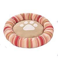 ZMXD Cama para Mascotas, Alfombra roja y cómoda para Perros a Rayas Rojas, Esterilla