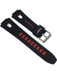 Calypso Watches Ersatzband Uhrenarmband Kunststoff Band für alle Modelle K5511, Farbe:schwarz / rot