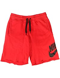 Nike Mens AW77 Alumni Terry Sweat Shorts Red Size Small 7429aa70a4