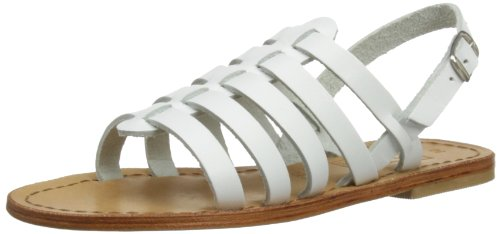 Step2wo Brigitte, Gladiatore bambina, Bianco (White L), 3.5 UK Regular