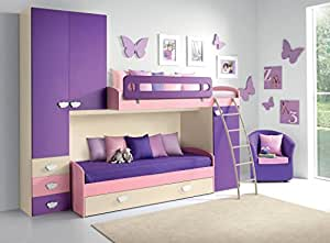 kleines zimmer in blanca br cke br cke kleiderschrank dachboden bett leiter metall kurve. Black Bedroom Furniture Sets. Home Design Ideas