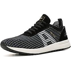 AX BOXING Zapatillas Hombres Deporte Running Sneakers Zapatos para Correr Gimnasio Deportivas Padel Transpirables Casual (42 EU, A9608-Negro)