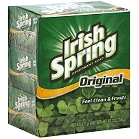Irish Spring Deodorant Soap Bars Original, 3 Count by Irish Spring