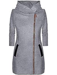 Alextry Abrigo con Capucha para Mujer otoño Invierno Gorro Manga Larga Espesar Abrigo cálido Chaqueta con