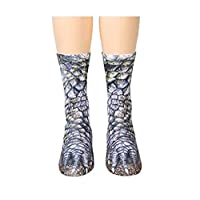 Madlst Adult 3D Socks Unisex Adult and Kids Animal Paw Crew Socks,Cat