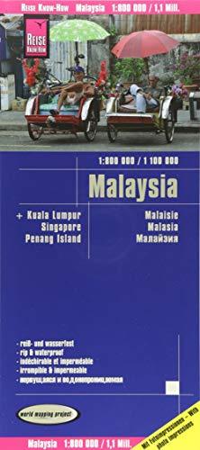Mapa de carreteras Malasia 1:800.000 / 1:1.100.000 impermeable por VV.AA.