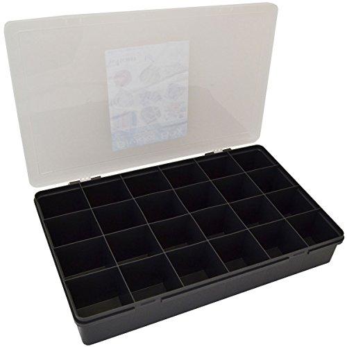 Organizer 60x40x10cm Aufbewahrungsbox mit 24 Fächern Graphite • XL Sortierbox Aufbewahrungs Box Kleinteile Magazin Christbaumkugeln Deko