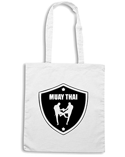 T-Shirtshock - Borsa Shopping TBOXE0036 Muay Thai Shirts Bianco