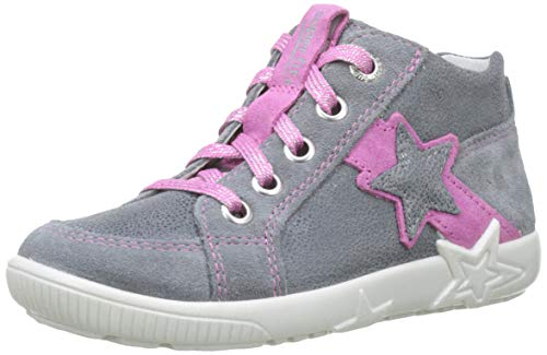 Superfit Baby Mädchen Starlight Sneaker, Grau (Smoke Kombi 44), 24 EU -