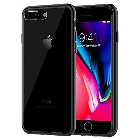 JETech Coque iPhone 8 Plus / 7 Plus Case Housse Etui Shock-Absorption Bumper et Anti-Scratch Effacer Back pour Apple iPhone 7 Plus 8 Plus 5.5 Inch (Noir)