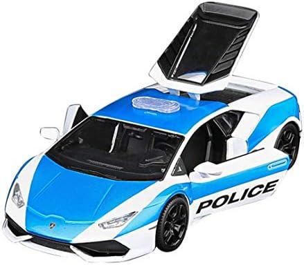 GYZS-TOY Modèle d'alliage de Collection de Voiture de Classe de Collection de Voiture de Police de Lamborghini de Nissan GTR R35 d'origine 1:24 (Couleur : Bleu) | Un Prix Raisonnable