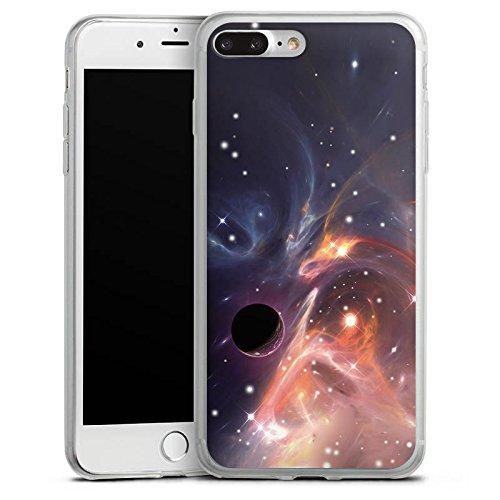 Apple iPhone X Slim Case Silikon Hülle Schutzhülle Outerspace Galaxy Muster Silikon Slim Case transparent