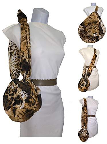 Stofftasche Leopard, zum Kauf, Kleidung, Helm, Reisen. Größe vergrößern Sparen Sie Plastiktüten