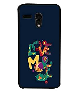 PrintVisa Colorful Quote High Gloss Designer Back Case Cover for Motorola Moto G :: Motorola Moto G (1st Gen) :: Motorola Moto G Dual