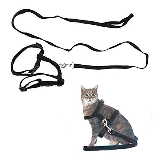 Adjustable Pet Cat Kitten Lead Leash Harness Set Nylon Collar Belt Safty Training