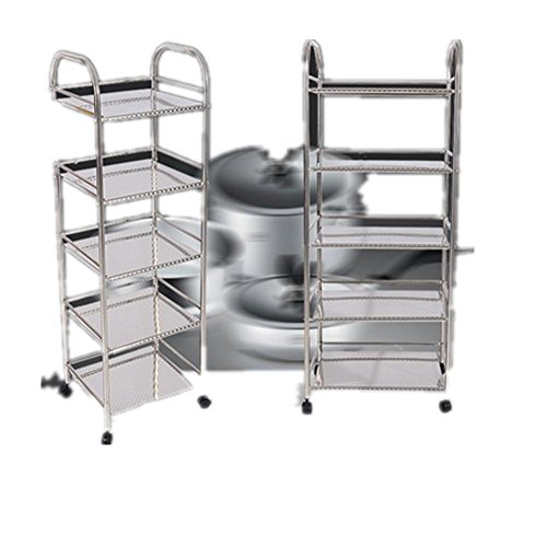 LINGHOU Cucina scaffalature rack bagno, forno in acciaio inox piano