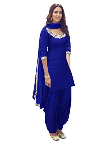 Sancom Women's Poly Cotton Embroidery Work Unstitched Salwar Suit -71324H