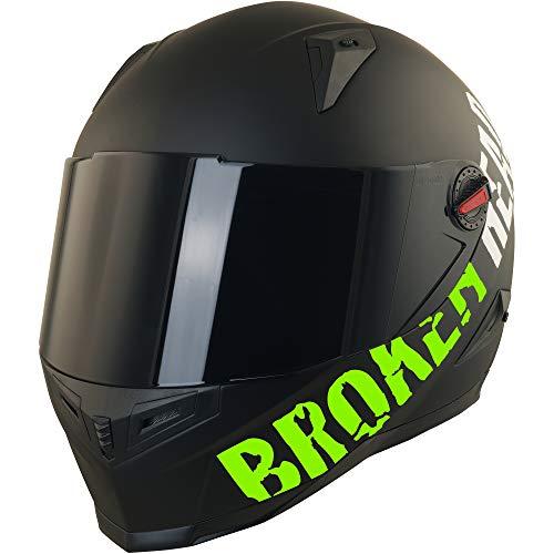Broken Head BeProud Helm | Motorradhelm Set inkl. Schwarzem Visier – Integralhelm – Karthelm – Nakedbike schwarz-matt S (55-56 cm) - 2