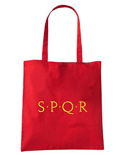 T-Shirtshock - Borsa Shopping OLDENG00780 spqr b Rosso