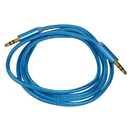 NPT Metal Gold High Speed 1 Meter Long 3.5 mm to 3.5 mm Jack Universal AUX Tangle Free Auxiliary Cable for All in One Mobile Phones incuding Sony, HTC, Car Stereo, CD MP3 DVD MP4 Players, iphone, ipad, ipod(Blue)  available at amazon for Rs.169