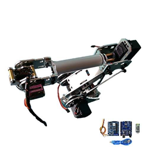 perfk Mechanischer Roboterarm mit 6 Achsen für DIY Roboter, aus Aluminiumlegierung, ca. 245 x 220 mm (Roboter-diy)