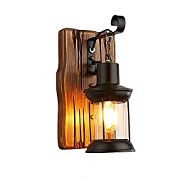 Single Head Industrial Vintage Retro Wooden Metal Painting Color Wall lamp for The Home/Hotel/Corridor Decorate Wall Light