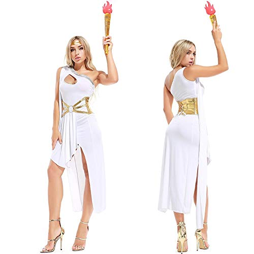 Luckydlc Halloween Kleider Sophisticated Lady Party Kostüm Party Show Queen for Frauen Erwachsenen Kostüm (Color : White, Size : One Size)