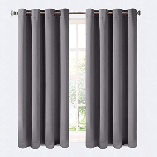 Balichun Verdunkelungsvorhang Blickdicht Vorhang 2er Set (140 * 245cm, Dunkel Grau)
