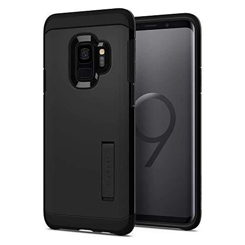 Spigen 592CS22846 Tough Armor für Samsung Galaxy S9 Hülle, Doppelte Schutzschicht Handyhülle für Extrem Fallschutz Schutzhülle Case Black