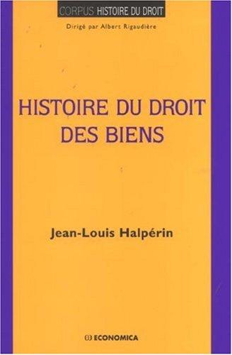Histoire du droit des biens