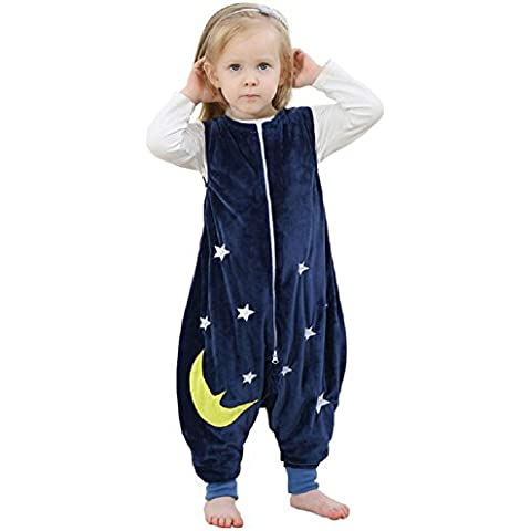 LIUDOULos niños recién nacidos sacos mono franela bebé dibujos animados pijamas de algodón anti - Kick fue , 5#