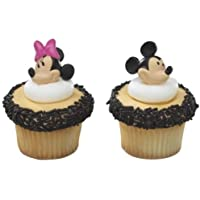 CakeDrake MICKEY + Minnie MOUSE Faces HEADS 12 Party CUPCAKE Cake Pop RINGS Favors Toppers by CakeDrake